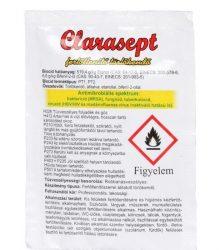 Clarasept fertőtlenítő hatású törlőkendő egyesével csomagolt