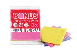 Bonus általános törlőkendő 3 db-os